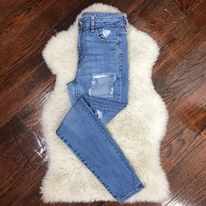 American Eagle Hi-rise Jegging Distressed Jeans